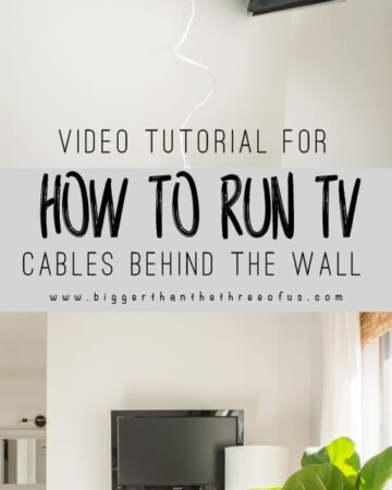 VIDEO TUTORIAL : Easy DIY :: How To Run TV Cables Through The Wall
