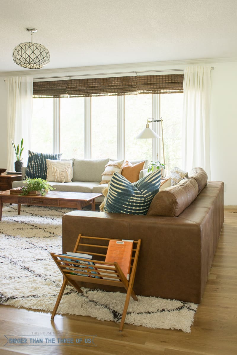 Modern Boho Living Room with Freshly Painted White Walls