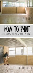 How to Paint an Interior Brick Room with a Spray gun!