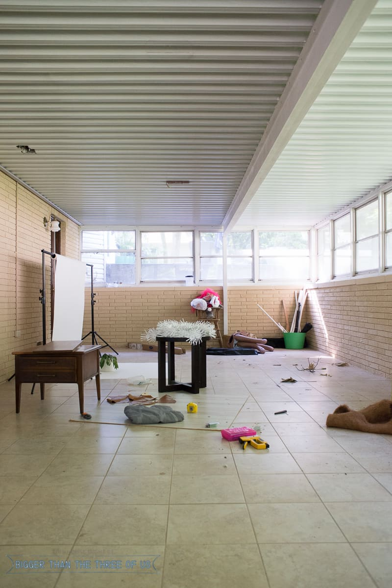 Painting an Interior Brick Room