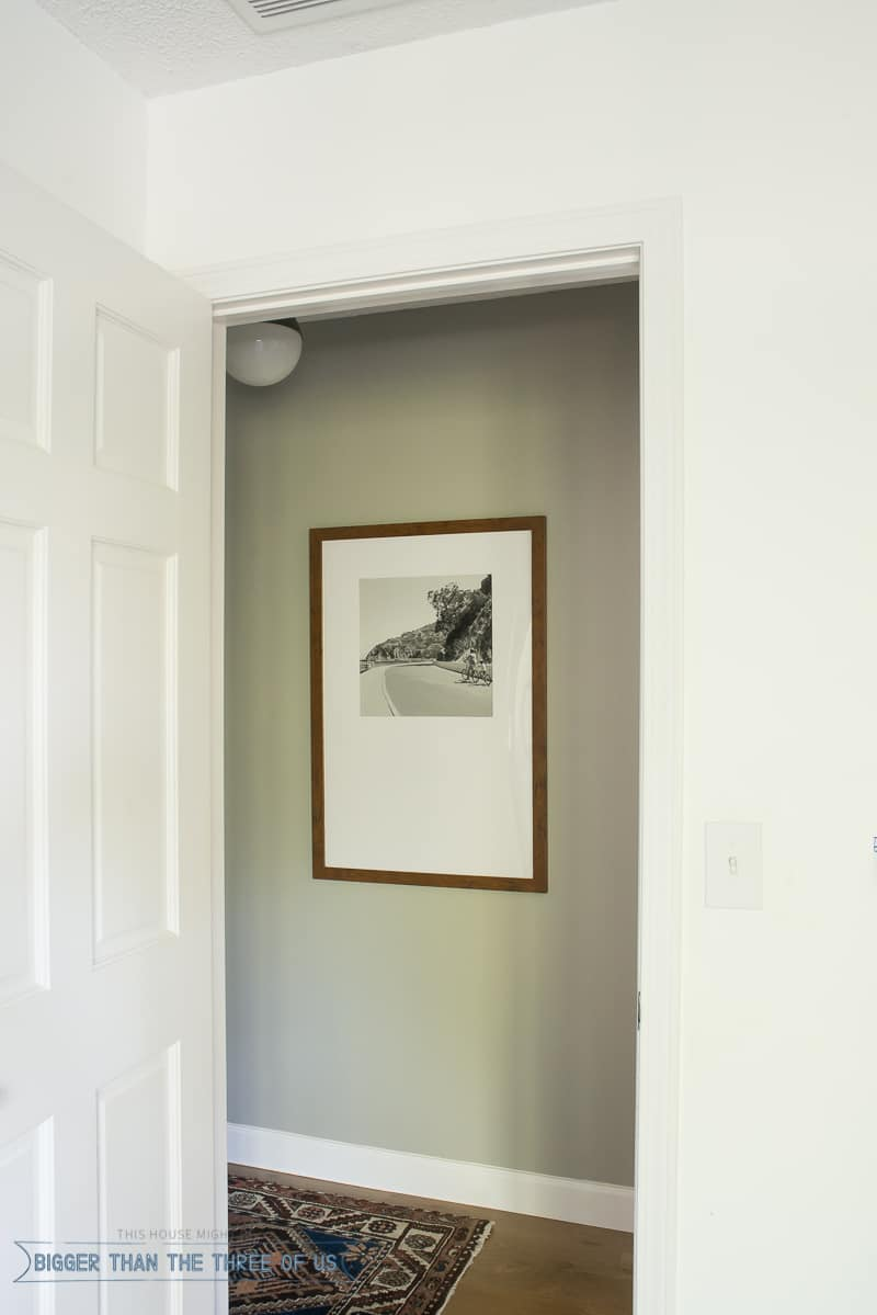 Modern Travel Gallery in Hallway with DIY Mat Board Cutting Tutorial