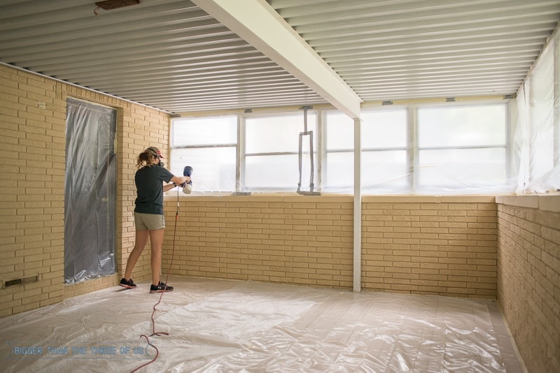 Painting an Interior Brick Room