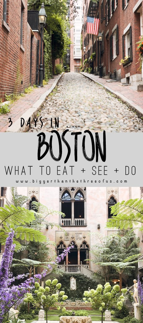 What to Eat, See and Do In Boston : Three Days