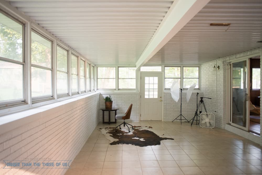 turning the Sunroom into an Office Studio