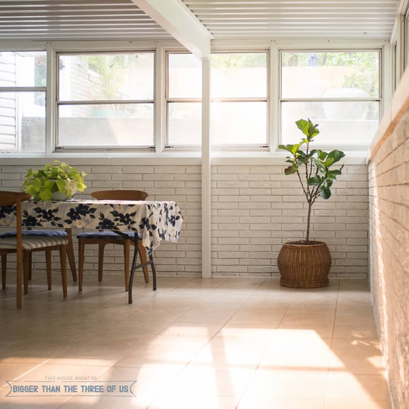 You can paint a sunroom and power wash it! Click to find out how.