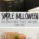 Simple Halloween Decorations That Anyone Can Do #halloween #decorating #shelfie #kitchenshelves