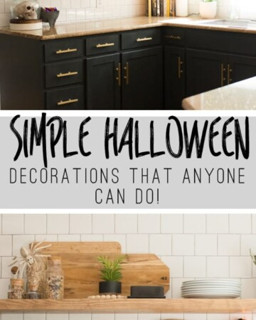 Simple Halloween Decorations That Anyone Can Do #halloween #decorating #shelfie #kitchenshelves