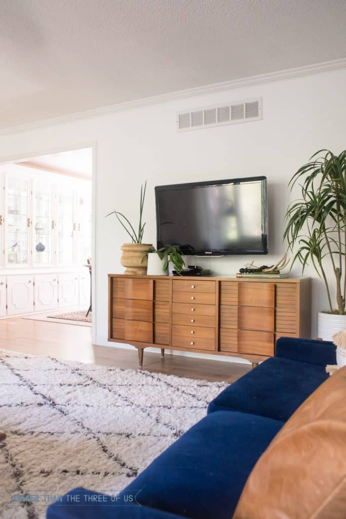 Styling Around a Wall-Mounted TV