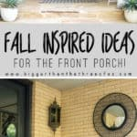 Fall Front Porch Ideas : I'm sharing how I'm giving my front porch a budget-friendly fall makeover. Come over to see my Fall Front Porch! #exterior #fall