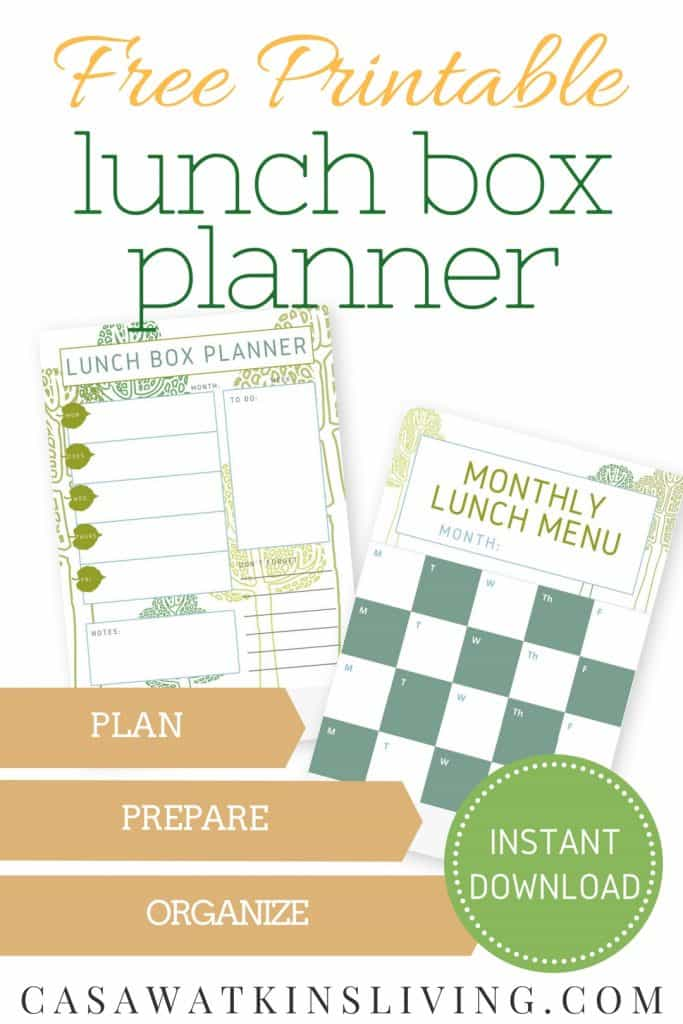 Lunch menu planner by Casa Watkins Living