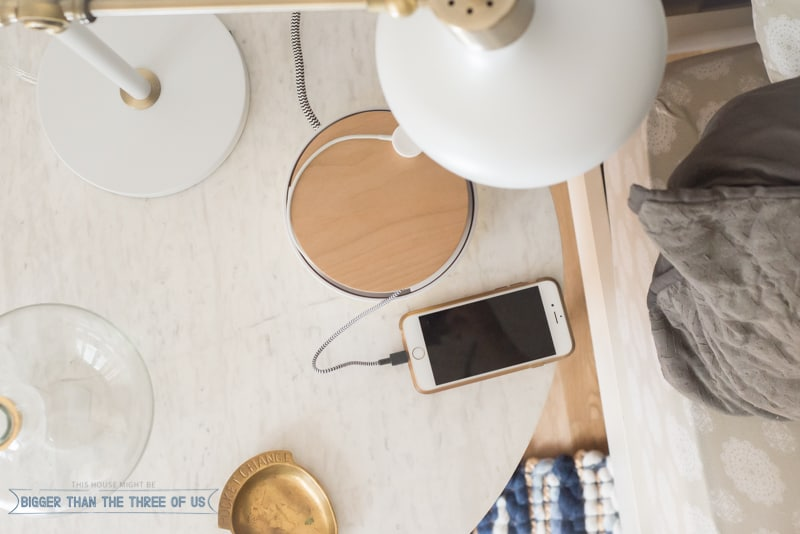 Organize your phone cords with the new Native Union Eclipse. It seamlessly blends in with your home decor. Aesthetically Pleasing Home Charging Solution