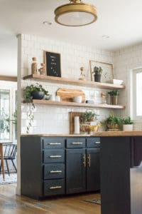 Favorite Interior House Paint Colors. Dark Cabinets in Kitchen.