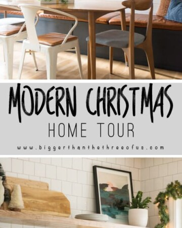 You have to see this MidCentury Eclectic Home Decorated for Christmas!