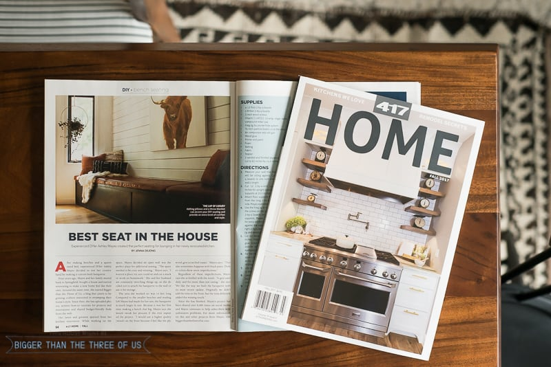417 Home Built-in Bench Seat Magazine Feature