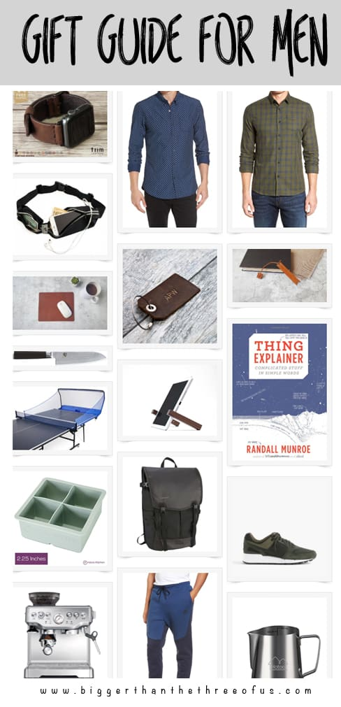 Christmas Ideas for Men. Never know what to buy the men in your life? Use this gift guide to get the perfect gift!