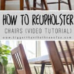 Video tutorial showing you how to recover your dining room chairs