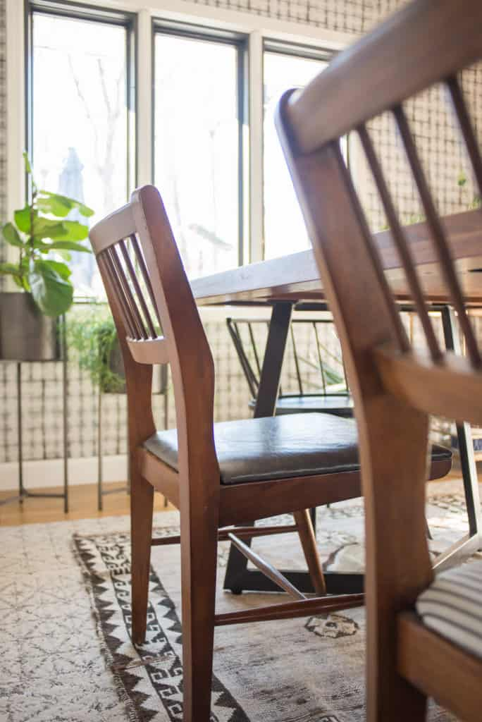 Use Leather To Recover Dining Chairs Using This How To Tutorial.