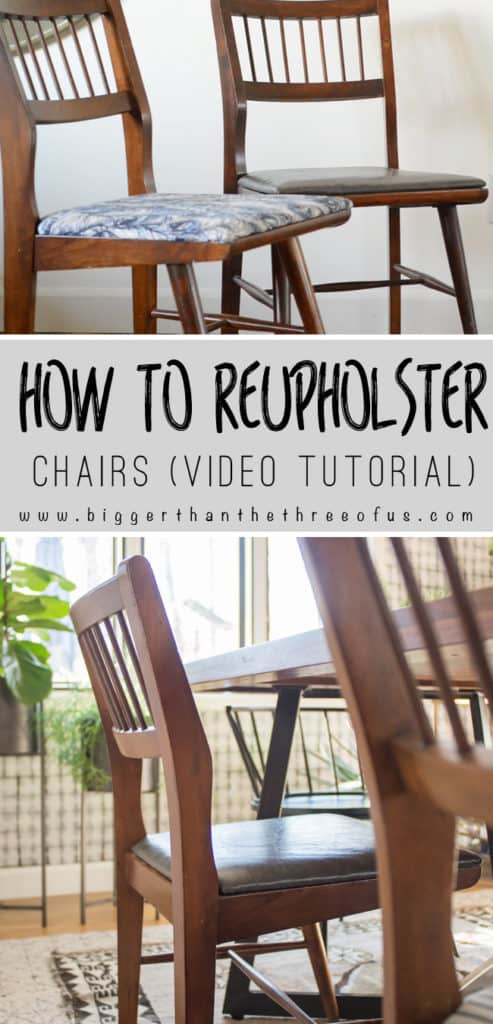 Video Tutorial for How To Upholster Dining Chairs - Bigger Than the ...