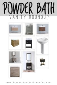 Affordable Powder Bath Vanity Options