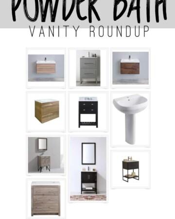 Affordable Powder Bath Vanity Options
