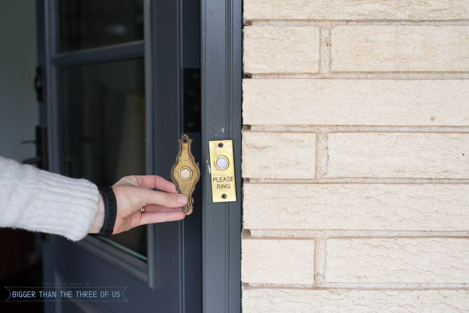 Update your old doorbell with this tutorial for how to change a doorbell button.