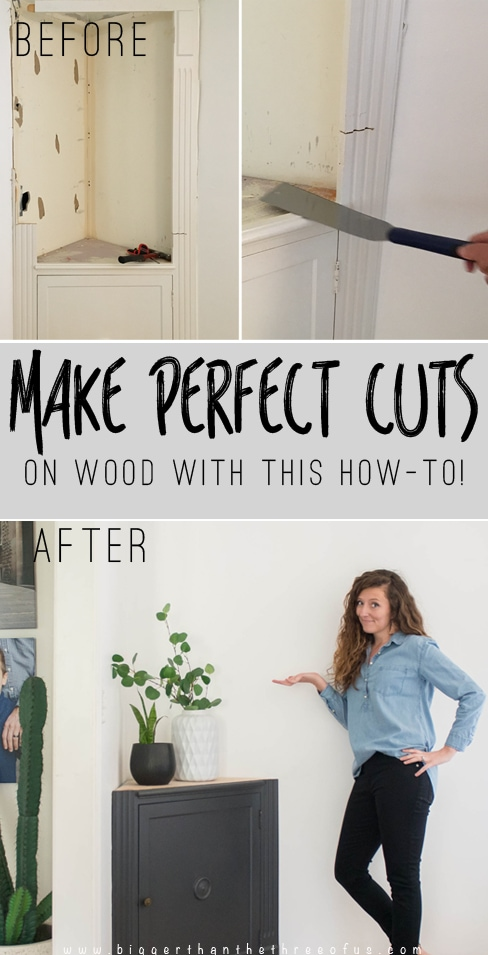 How to cut a cabinet in half
