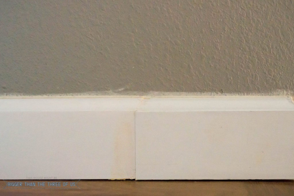 Baseboard issues in the hallway