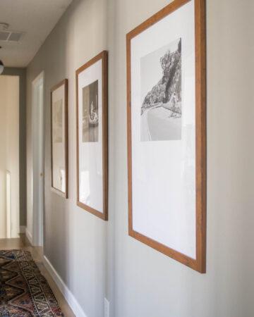 DIY Photo Mat tutorial. Travel Hallway Gallery