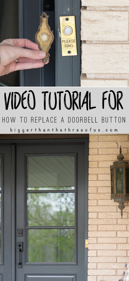 Update your front door space by replacing the doorbell button.