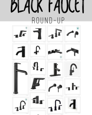 Wall mount black faucets, three hole black bathroom faucets and more! Come on over and see this black faucet roundup!