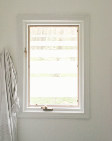 DIY Project for privacy on bathroom window