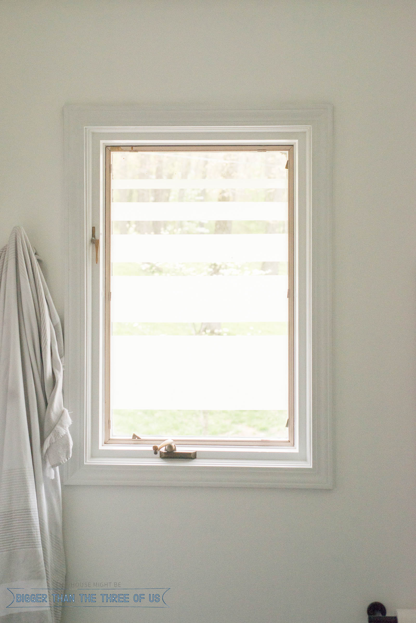 Bathroom Window Privacy DIY