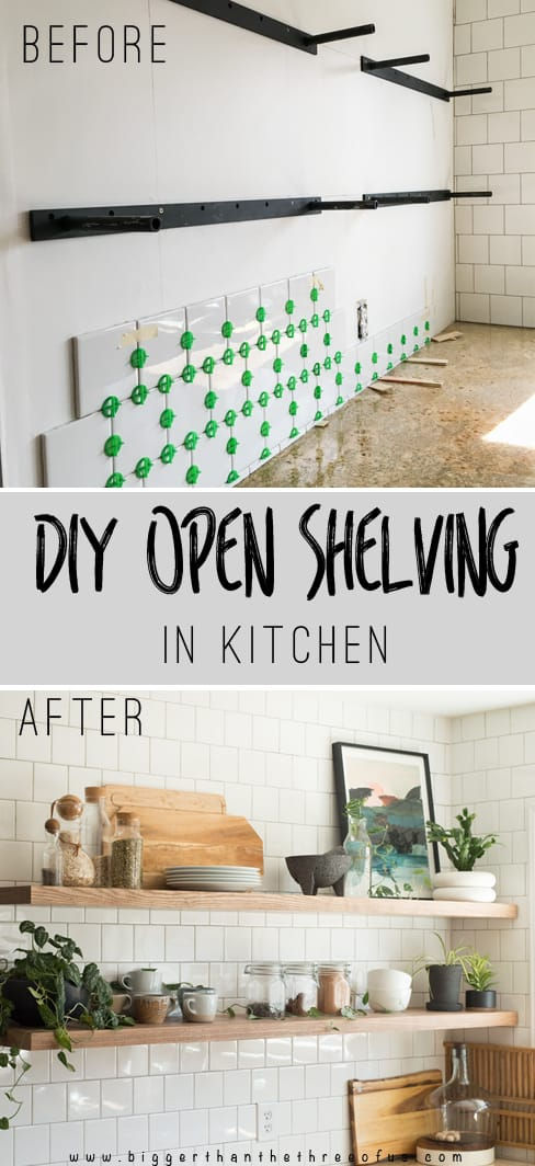 Use this guide to get the knowledge on DIY Kitchen Floating Shelves including how to mount a floating shelf, how to have floating shelves that hold a lot of weight and more!