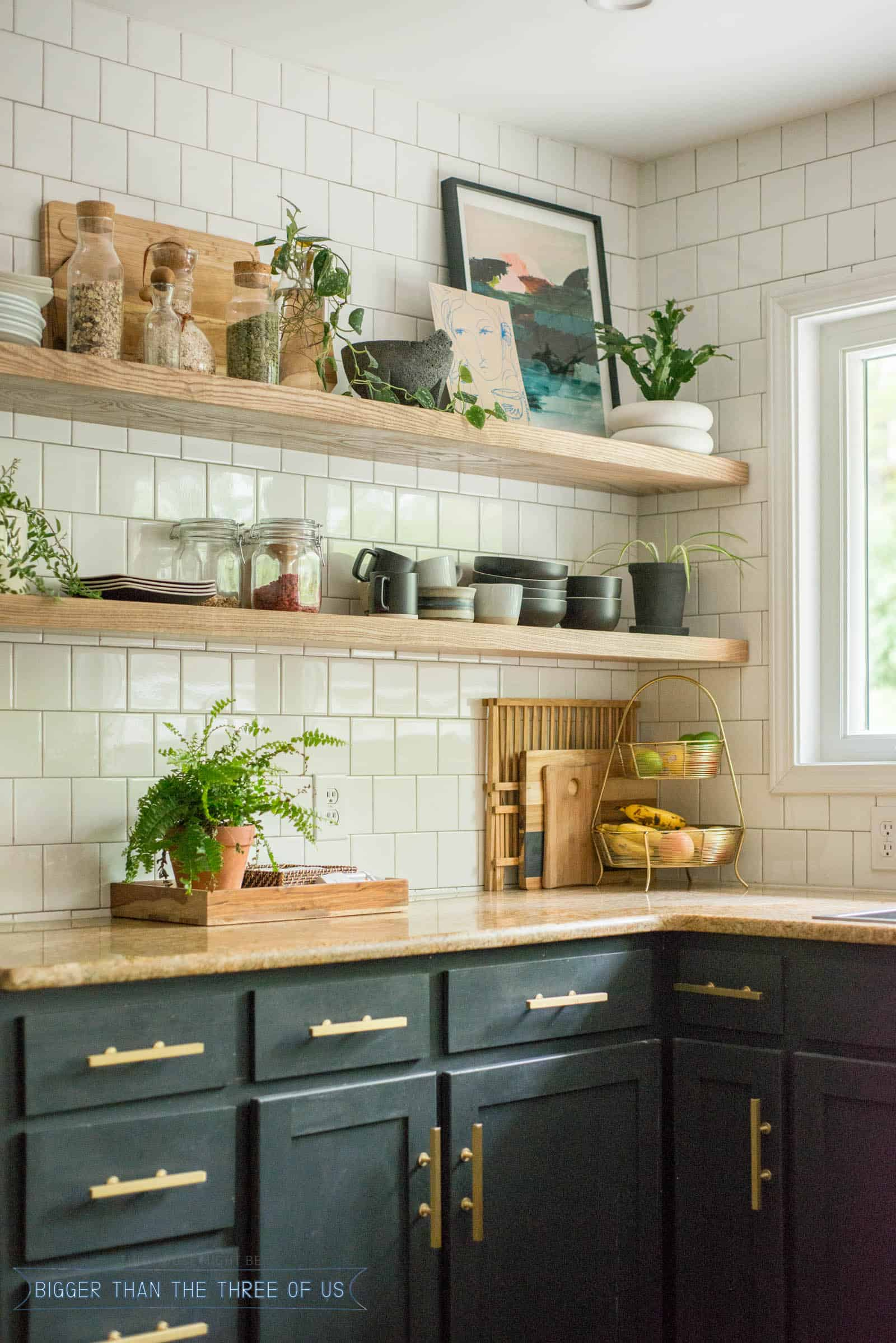 DIY Open Shelving Kitchen Guide - Bigger Than the Three of Us