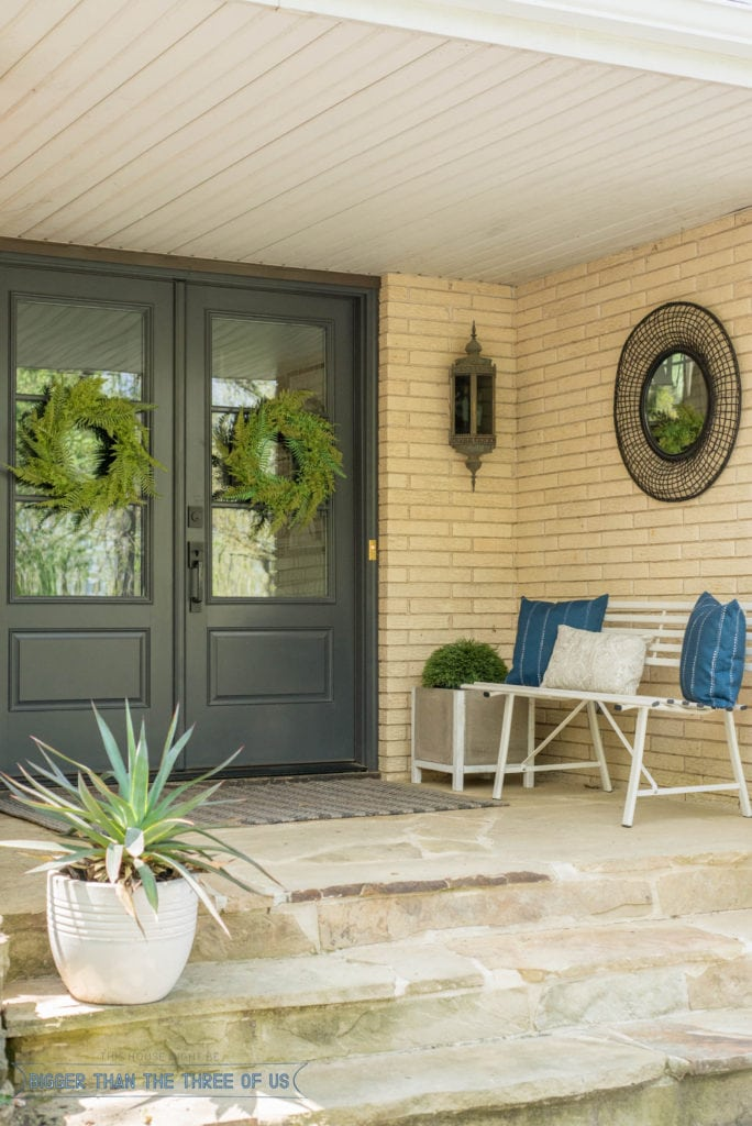 ideas for a modern front porch for spring bigger than the three of us. Black Bedroom Furniture Sets. Home Design Ideas