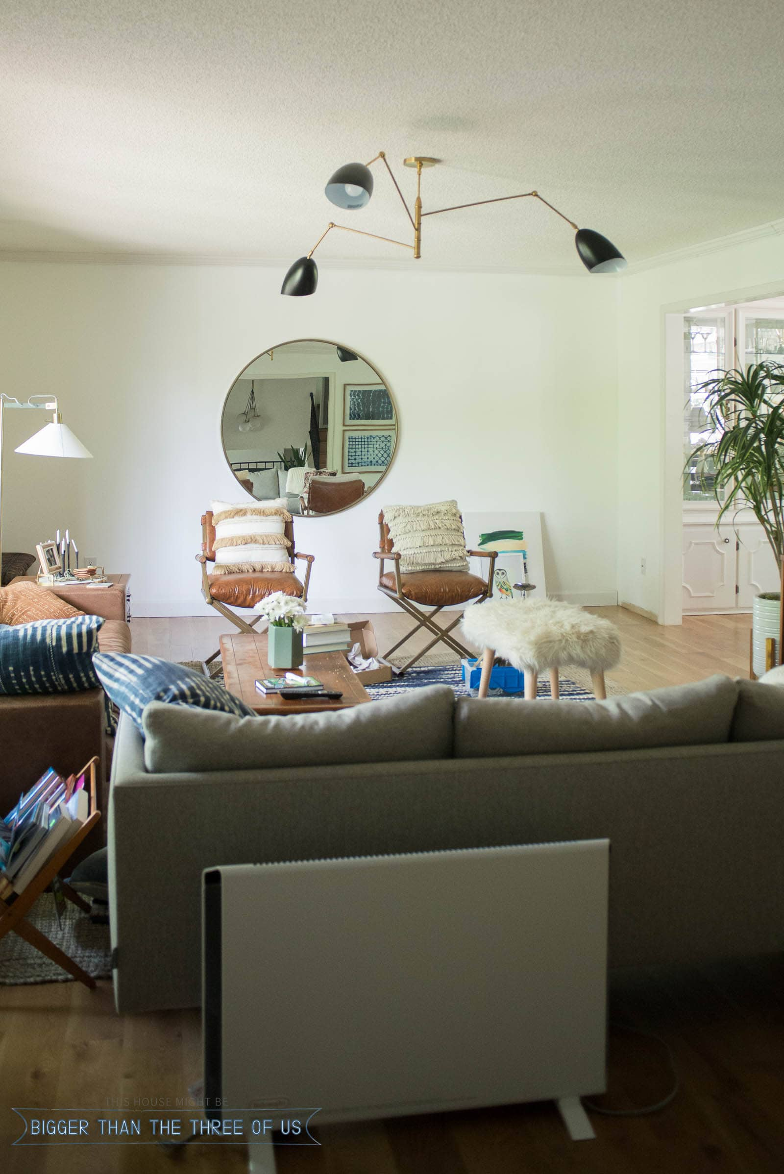 Living Room - Behind the scenes of what a Home Blogger's space really looks like
