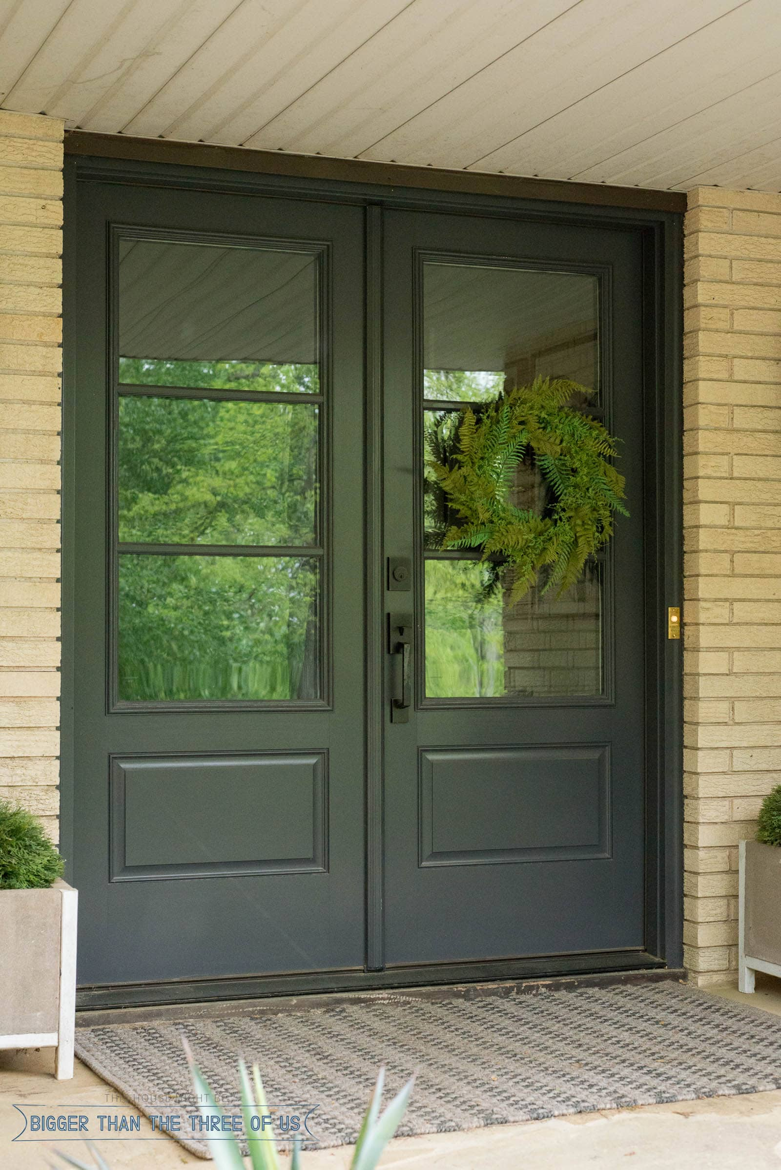 Double glass front doors