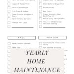 Free Checklist for Home TO DOS