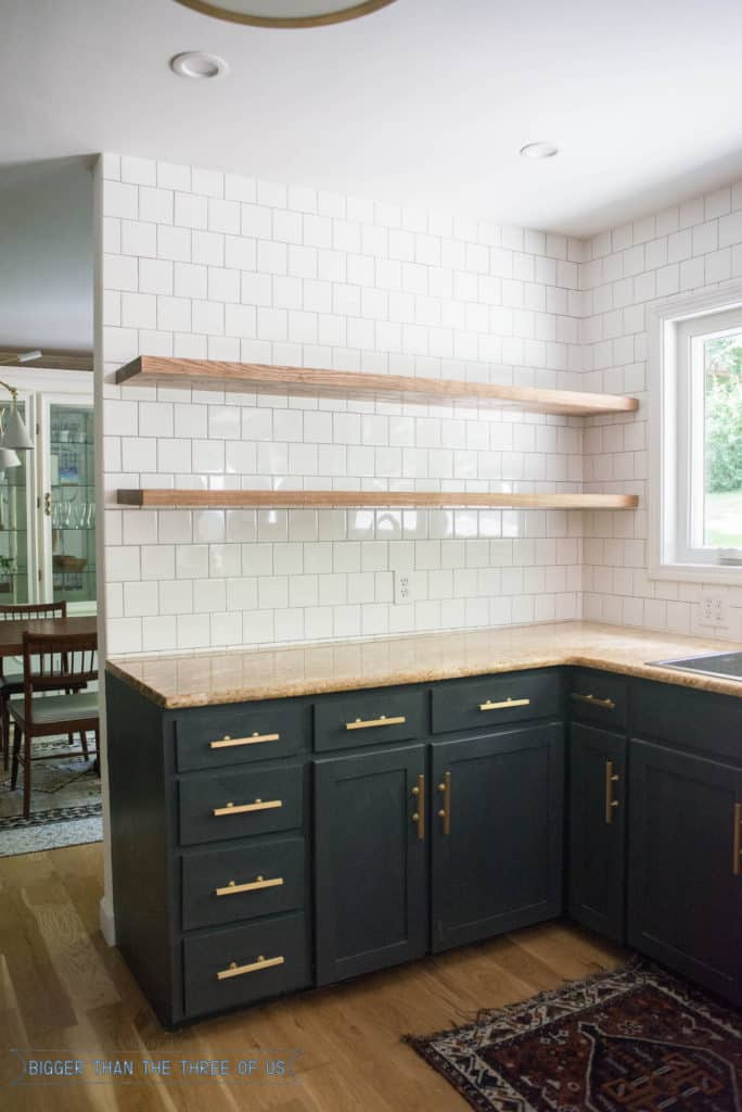 Height Of Floating Kitchen Shelves