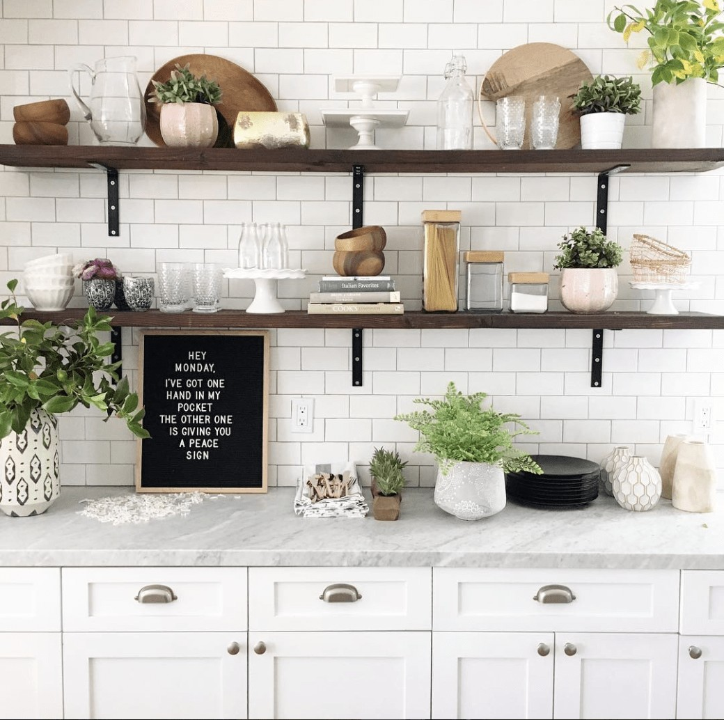 Open kitchen Shelving design by Every Davis Moments. @everydavismoments