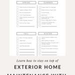 Annual Checklist for Home Maintenance