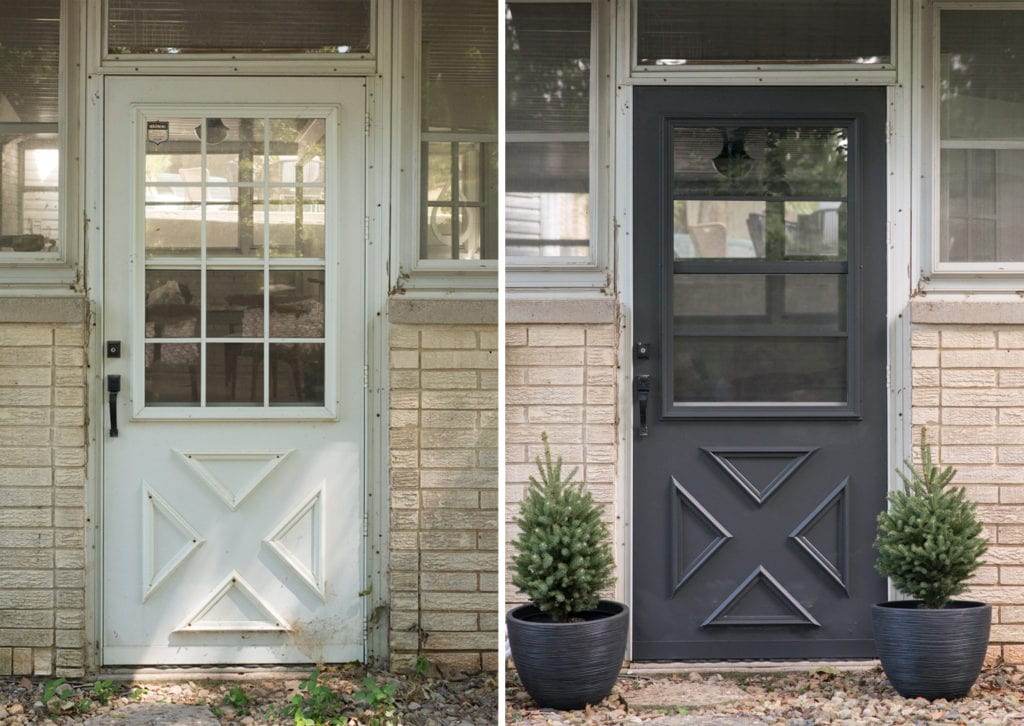 Paint Storm Door Before and after