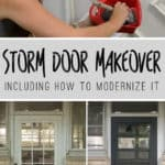 Updating the Grille on a storm door and how to modernize it with HANDyPaint