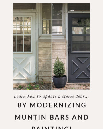 before and after exterior door makeover
