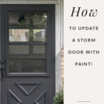 update exterior door with dark paint
