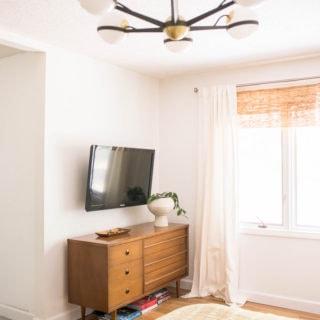 mid century modern bedroom lighting