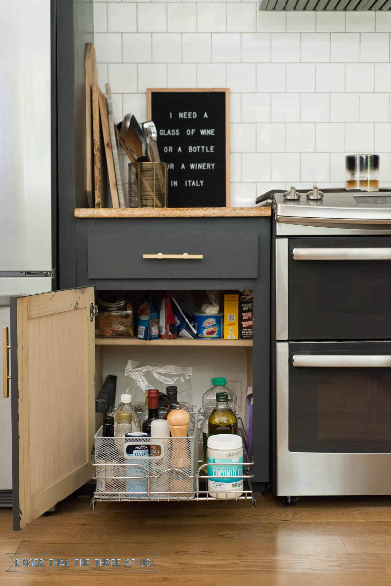Easy Kitchen Organizing - Bigger Than the Three of Us on ideas for organizing refrigerator, ideas for organizing closets, ideas for organizing tools, ideas for small kitchen, ideas for organizing living room furniture, ideas for home organization, ideas for organizing toys,