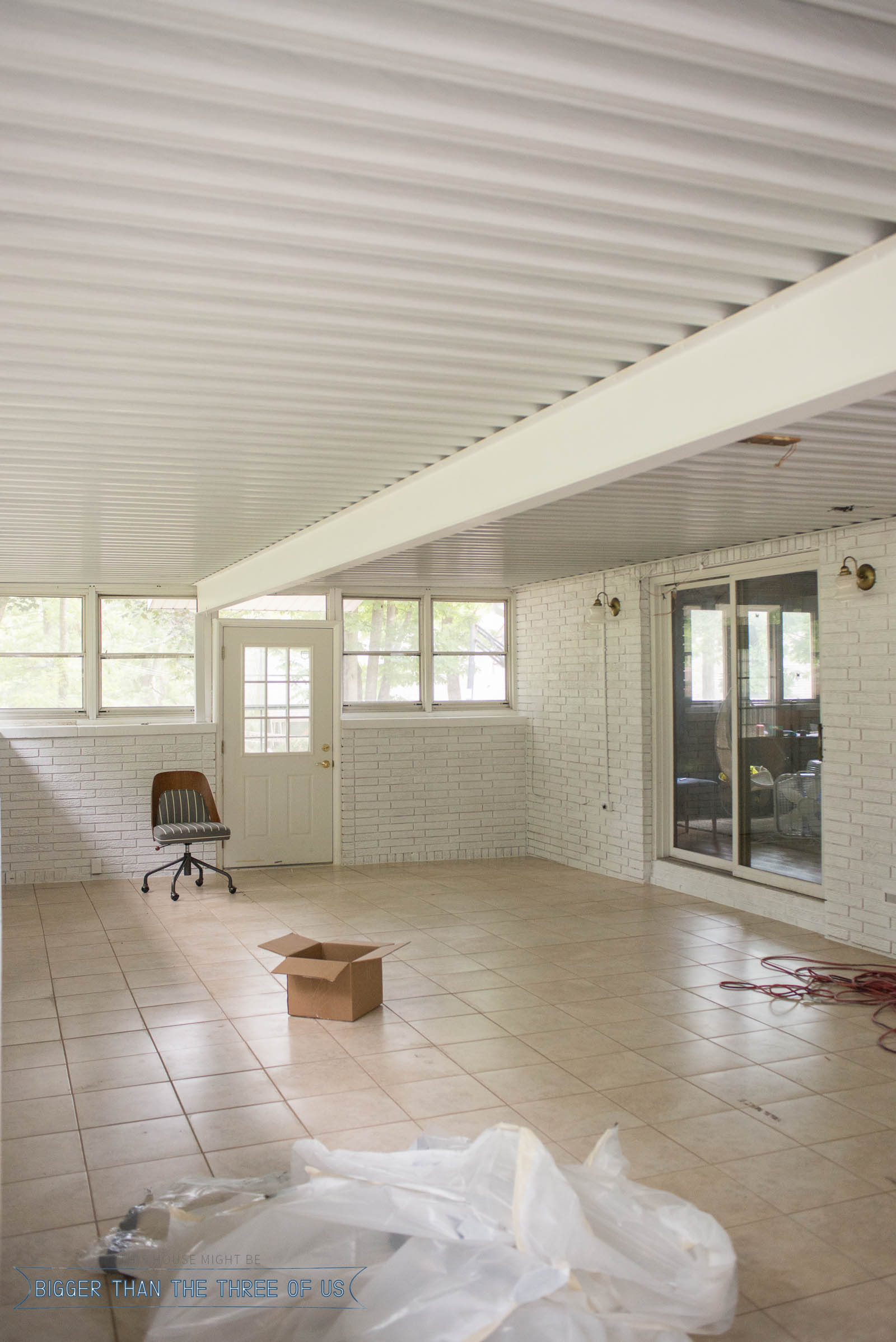 Sunroom Office layout and plan