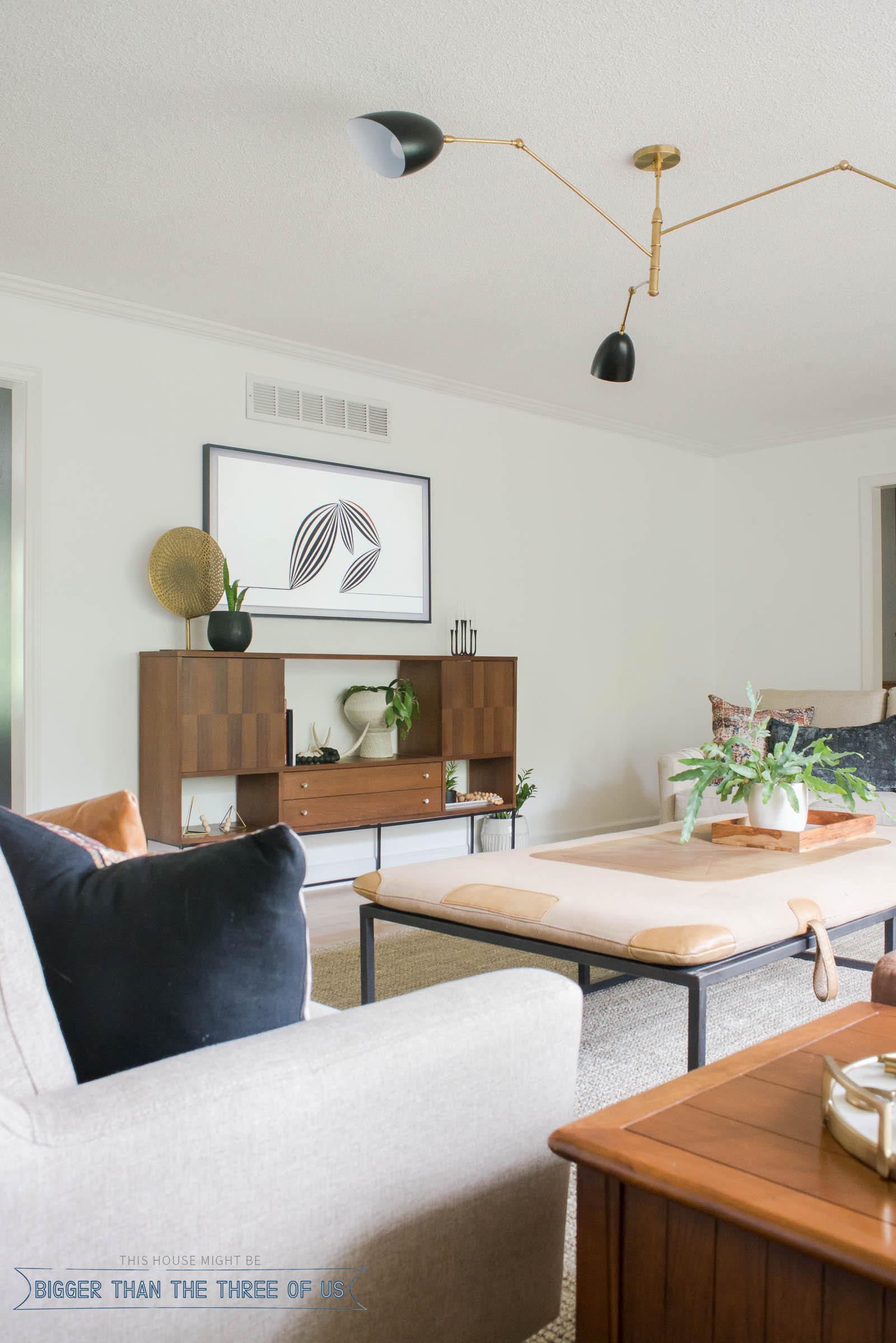 Vintage Modern Living Room - Bigger Than the Three of Us