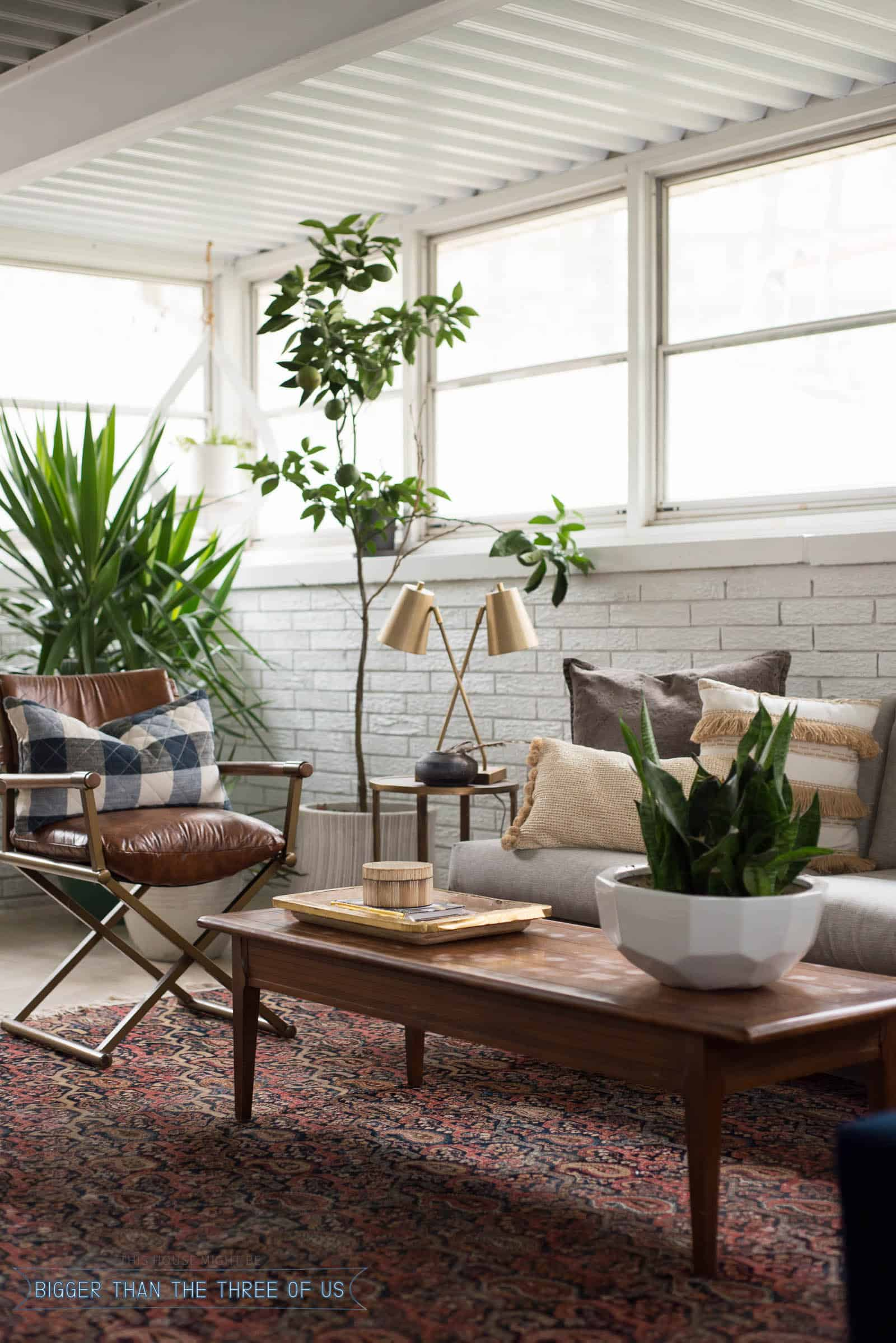 Sunroom Home Office Makeover with Tuesday Morning - Bigger Than